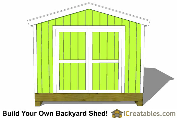 10x10 storage shed end