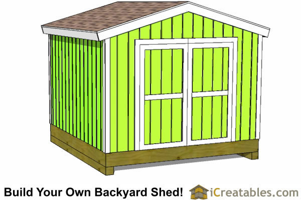 10X10-Shed 10x10 Shed Plans - Storage Sheds & Small Horse Barn Designs