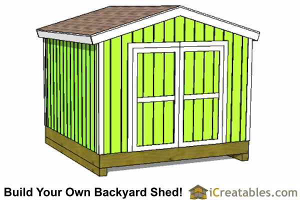 10x10 shed plans - The best way to get exatly 100 sf. of shed storage