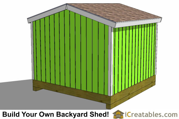 10x10 storage shed rear