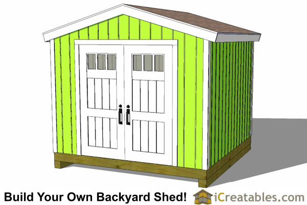 10x10 tall shed plans gable shed