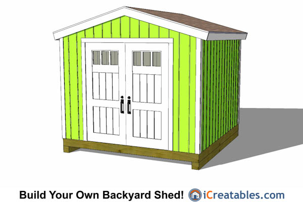 10x10 Gable Shed With Tall Walls