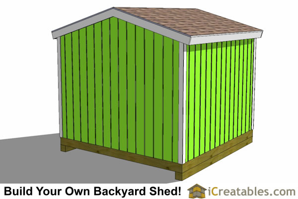 10x10 storage shed top