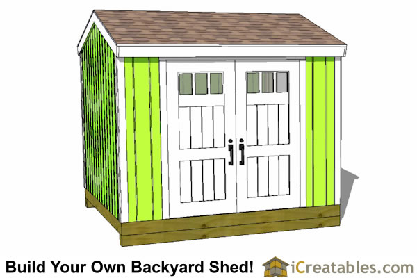10x10 large shed with side door