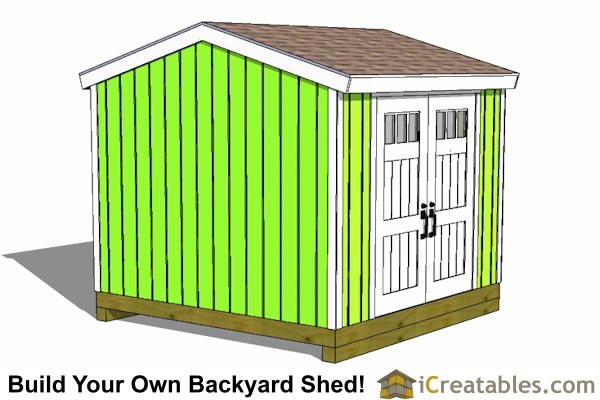 10x10 shed with side door