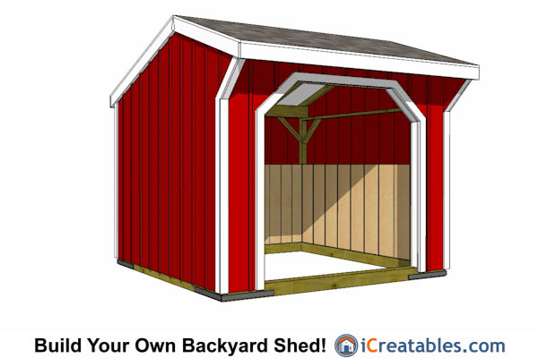 10x10 run in shed