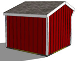 10x10 run in shed rear