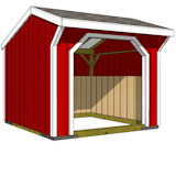 8x8 run in shed with wood foundation