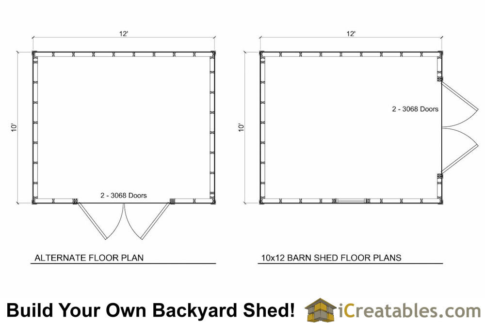 10x12 barn shed plans for 10x12 kitchen floor plans