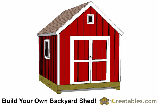 10x12 gablel barn plans