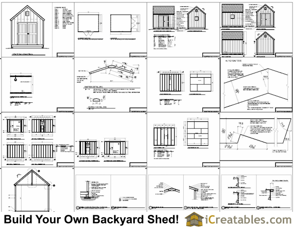 Diy modern storage shed outdoor storage building plans for Free shed design software with materials list