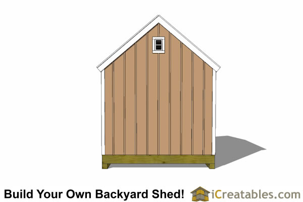 10x12 barn shed with door on end