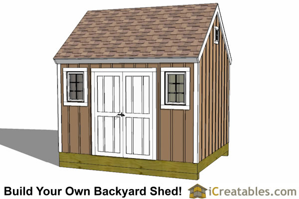 10x12 cape cod new england shed plan large door