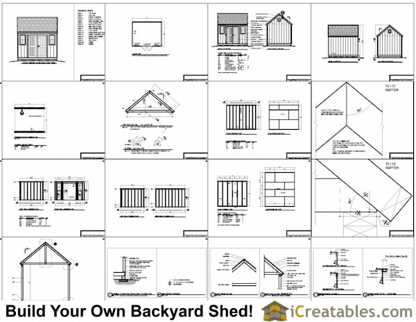 Large outdoor storage sheds free 10x12 wooden shed plans for Large shed plans