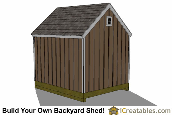 10x12 barn shed rear view