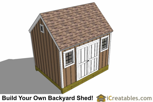 10x12 barn shed sied window