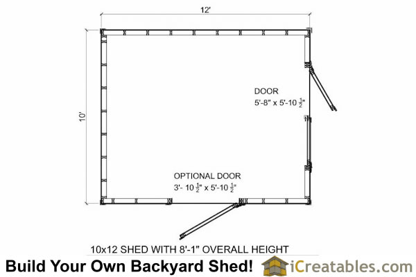 10x12 short shed plans 8 39 tall storage shed plans for 10 x 8 shed floor plans