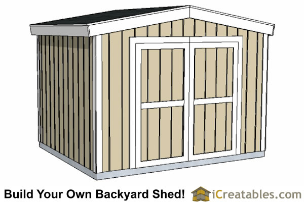10x12 short shed plans 8 39 tall storage shed plans for New england shed plans