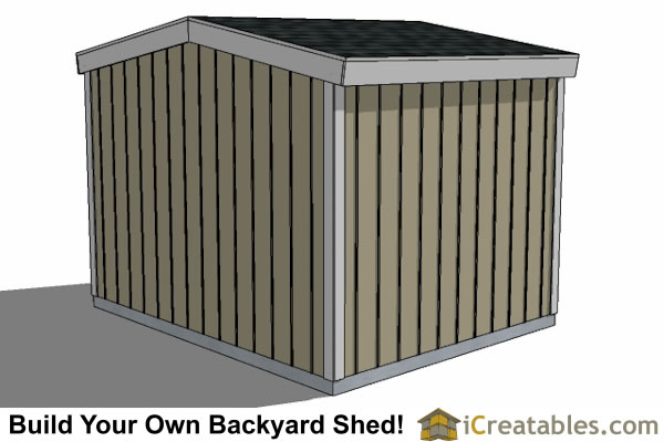 10x12 8 foot tall shed plans left rear