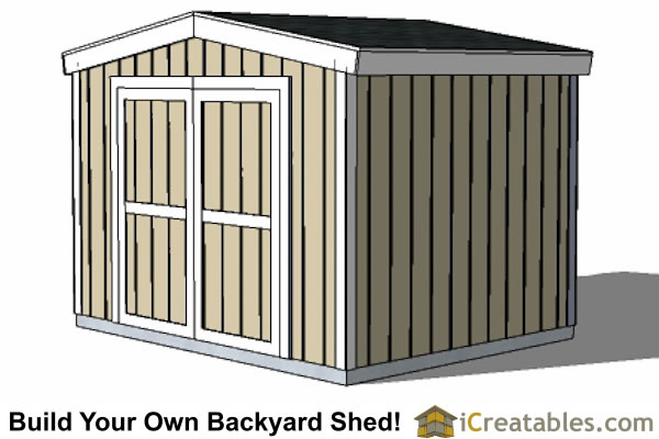 8' Tall Storage Shed Plans