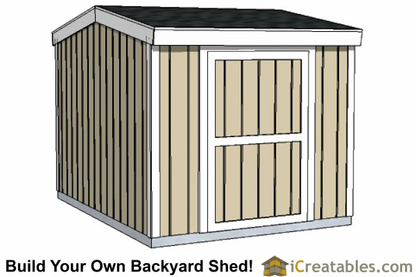 10x12 Short Shed Plans 8 Tall Storage Shed Plans