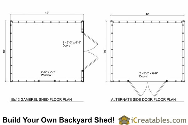 10x12 barn shed plans gambrel shed plans for 12 x 12 shed floor plans