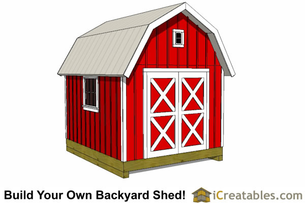 Barn Shed Plans - Classic American Gambrel - DIY Barn Designs
