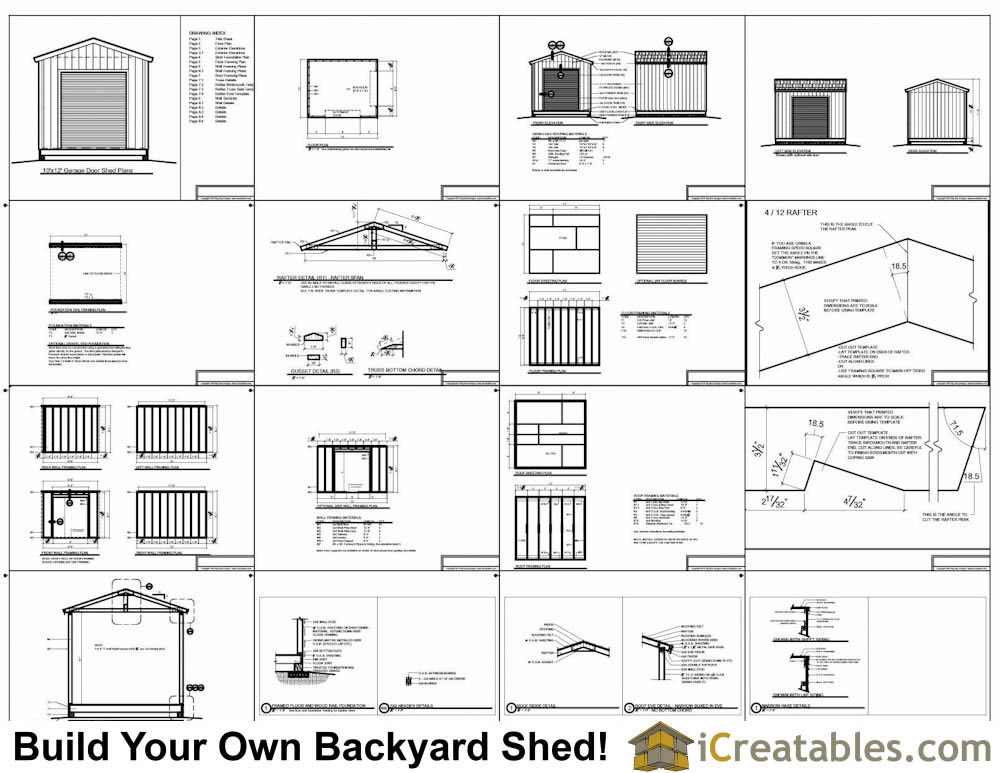 10x12 shed with garage door plans