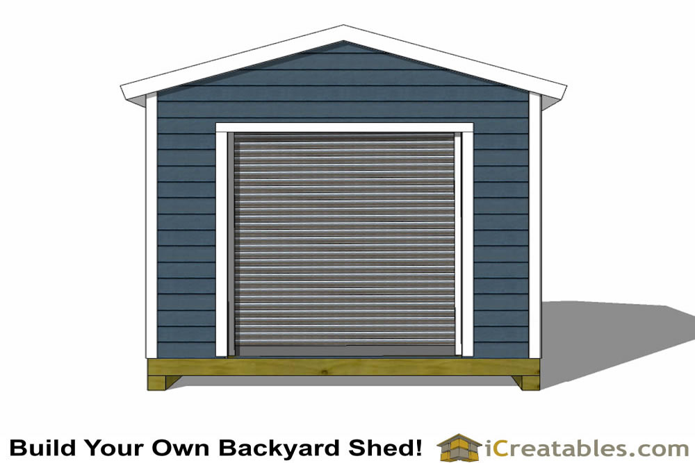 10x12 GD Garage Door Shed Plans on Shed Floor Plans 12 By 16