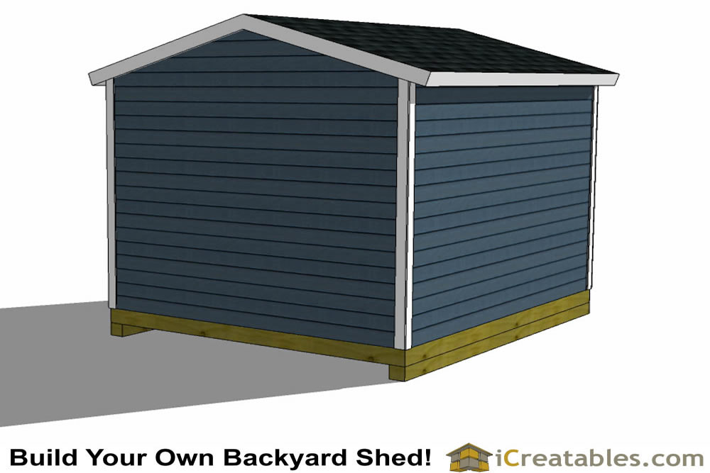 10x12 shed plans with garage door elevation