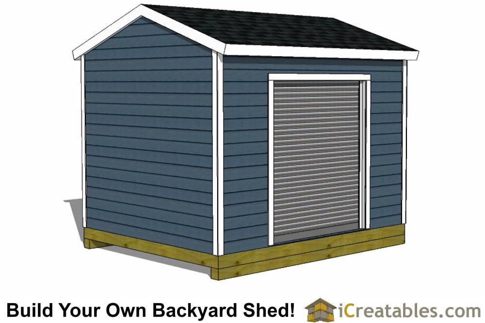 10x12 shed plans with garage door icreatables