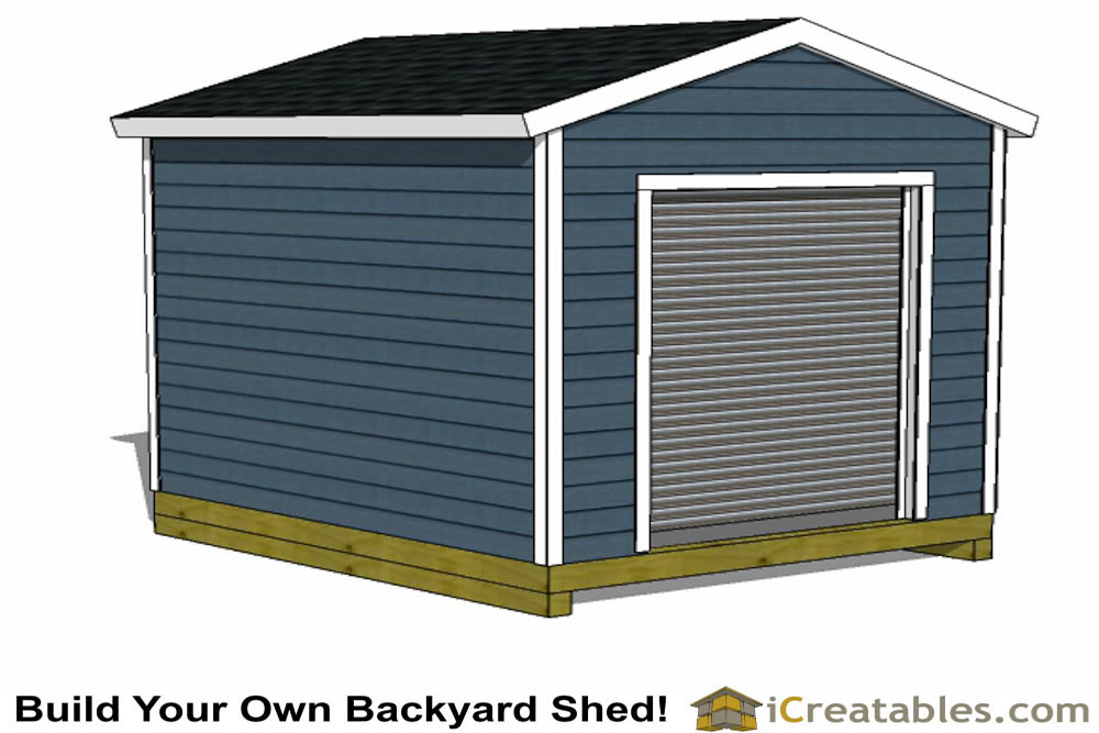 10x12 shed plans with garage door icreatables for 12x12 roll up garage door