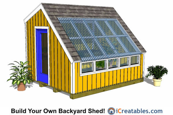 10x12 wood greenhouse shed plans