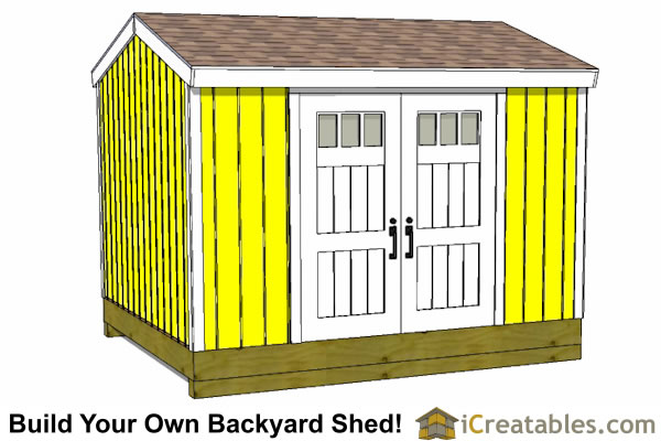 10x14 large shed plans gable
