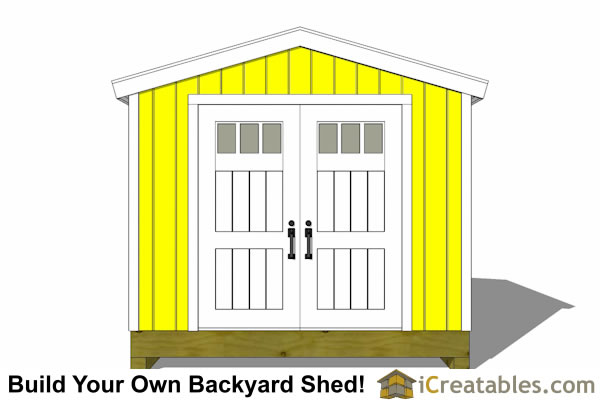 10x12 tall storage shed rear
