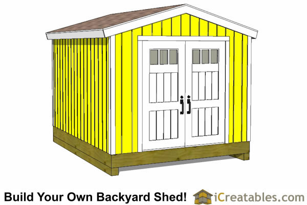10x14 backyard storage shed front