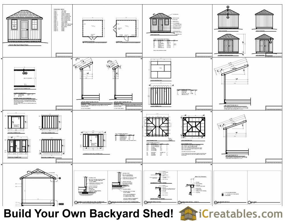 12x16 Cape Cod Style Shed Plans