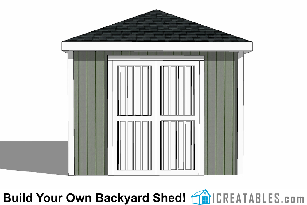12x16 cape cod style shed end door elevations