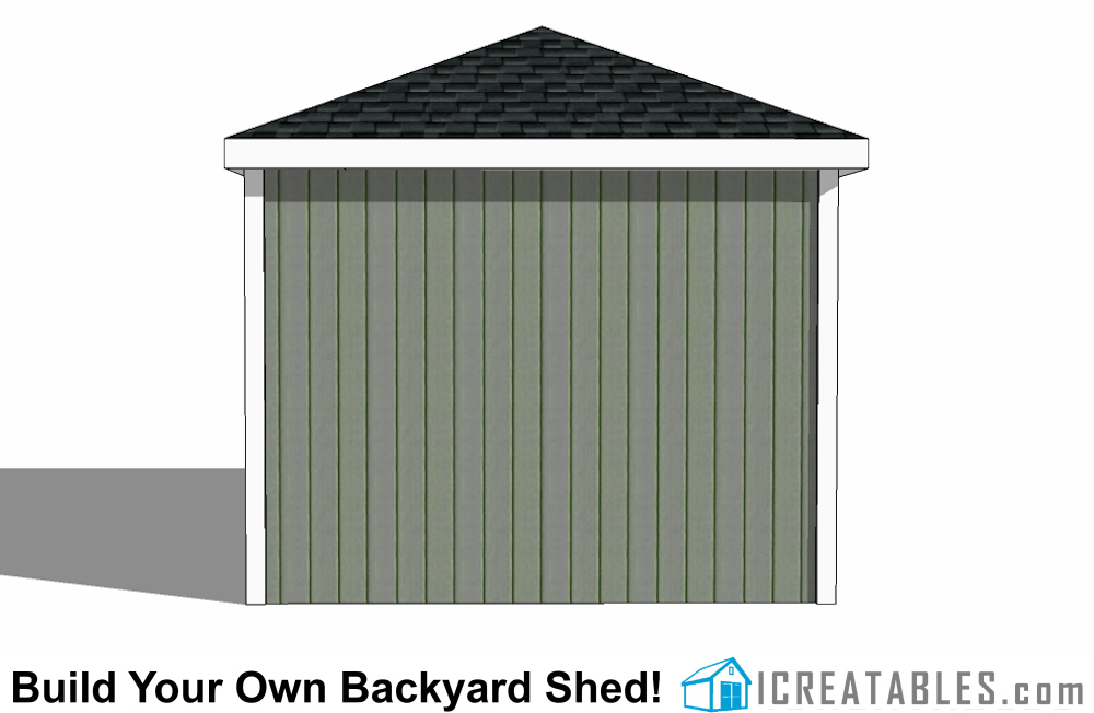 10x12 hip roof shed plans for Double hip roof design