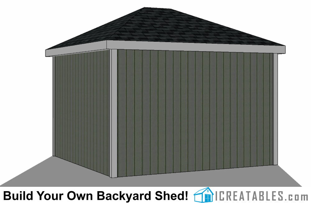 12x16 cape cod style shed right elevation