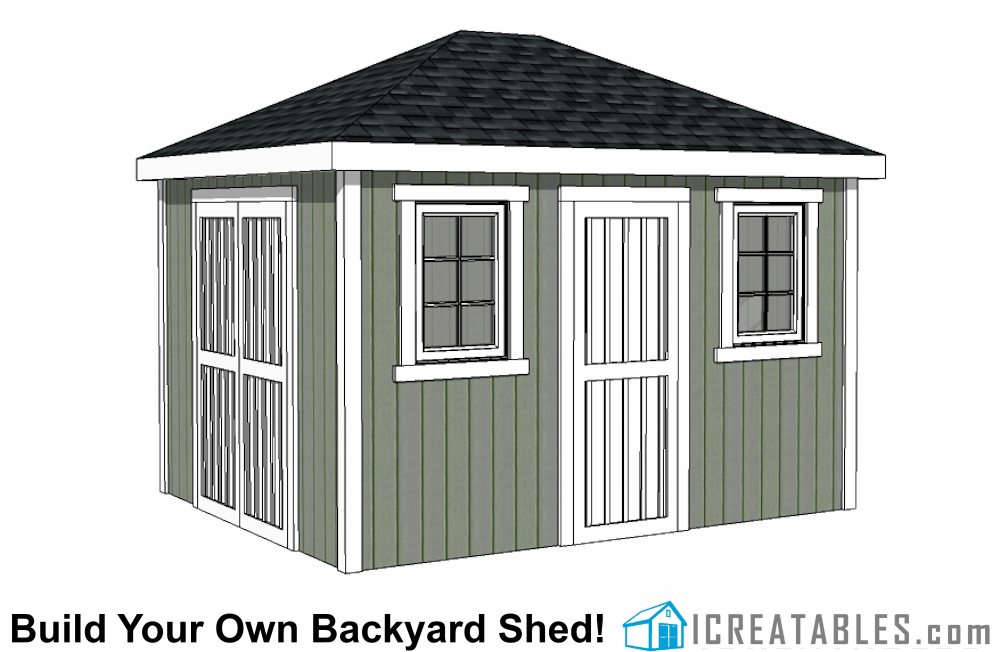 10x12 hip roof shed plans for Shed cupola plans