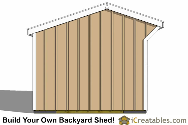 10x10 one stall horse barn end view