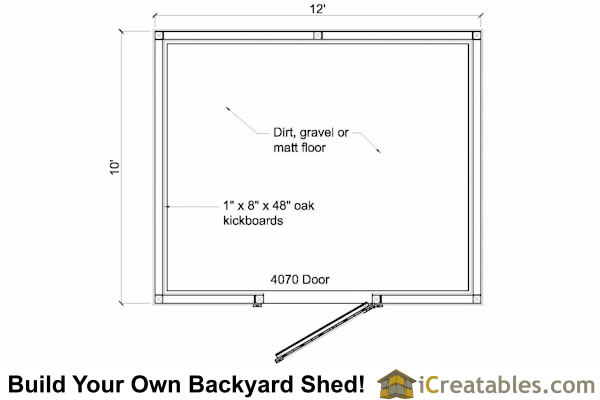 10X12 One Stall Horse Barn Plans | Small Horse Barn Plans