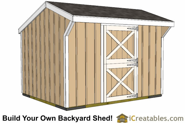 10x12 horse barn plans front elevation