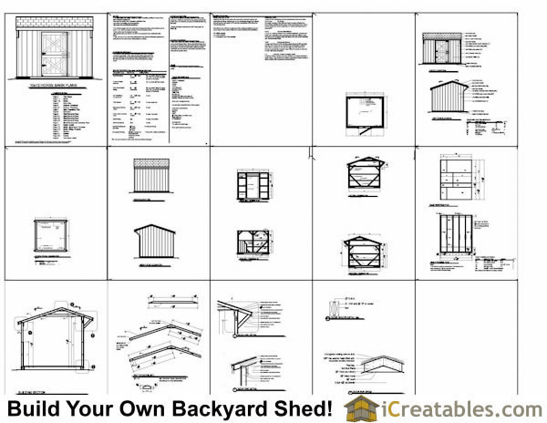 Free 10 16 shed plansshed plans shed plans for Horse barn plans free