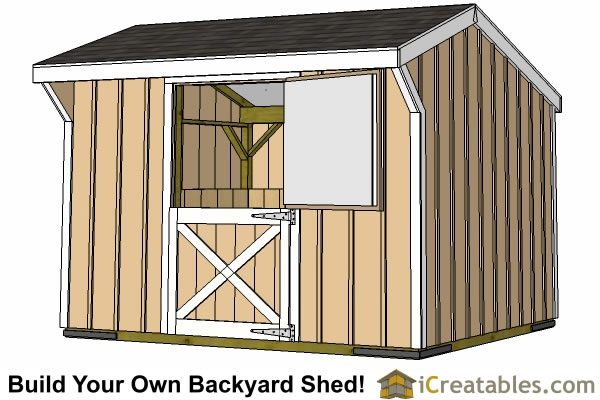 10x12 one stall horse barn plans small horse barn plans for 1 stall horse barn plans