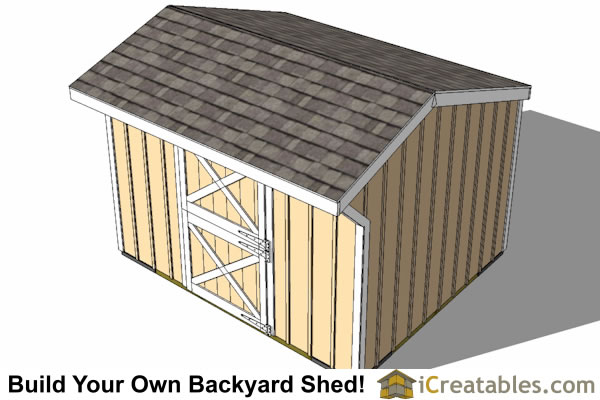 10x12 One Stall Horse Barn Plans Small Horse Barn Plans