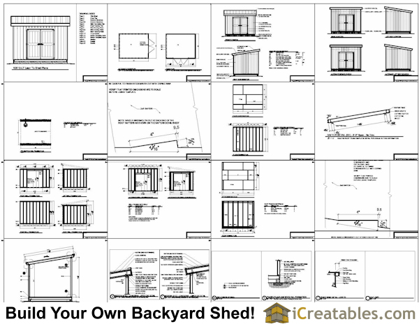 10x12 lean to shed plans example. 10x12 Lean To Shed Plans   icreatables com