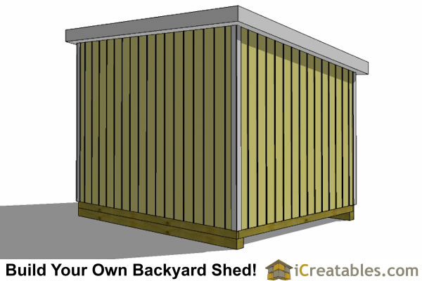 10x12 lean to shed rear