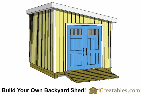 10x12 lean to shed plans door on angled